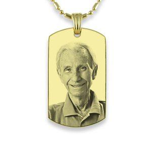 Gold Plate Medium Portrait Photo Pendant