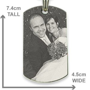 Rhodium Plate XL Portrait Medallion Photo Pendant Dimensions