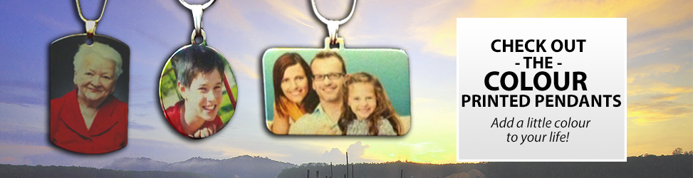 Colour Printed - Photo Pendants