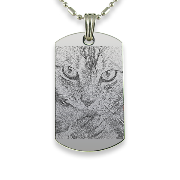 Rhodium Plate Medium Portrait Cat Keepsake