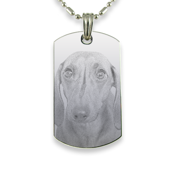 Rhodium Plate Medium Portrait Dog Keepsake