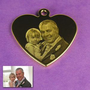 Gold Plated 925 Silver Heart Photo Pendant