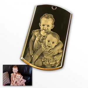 Gold Plate Deluxe Bevelled Portrait Photo Pendant