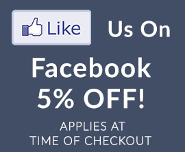 Like Us On Facebook for 5% Off