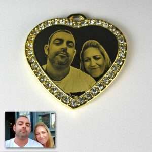 Gold Plate Diamante Heart