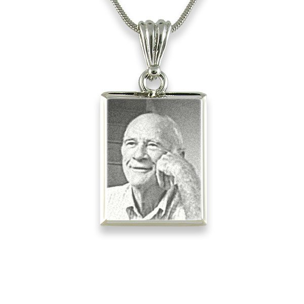 925 Silver Deluxe Bevelled Portrait Pendant Photo Pendant