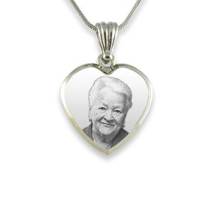 925 Silver Deluxe Bevelled Heart Photo Pendant