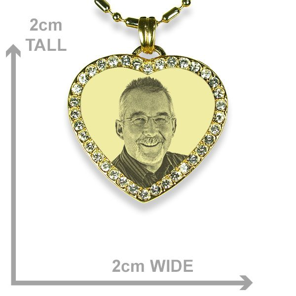 Gold Plated 925 Silver Diamate Heart Dimensions