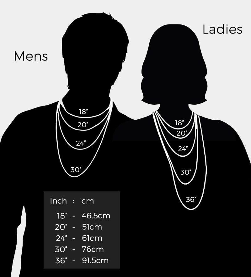 Photo Pendant UK Chain Lengths Guide