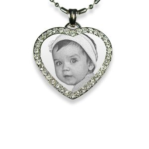 Small 925 Silver Diamante Heart