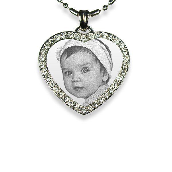Small 925 Silver Diamante Heart