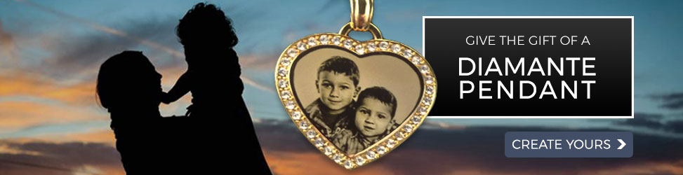 Diamante Photo Pendants