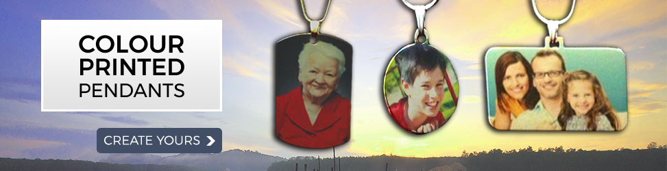 Colour Printed Photo Pendants