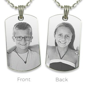 Stainless Steel Double Sided Photo Pendant