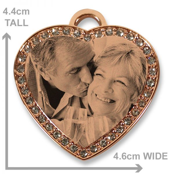 Rose Gold - Large Diamante Photo Pendant