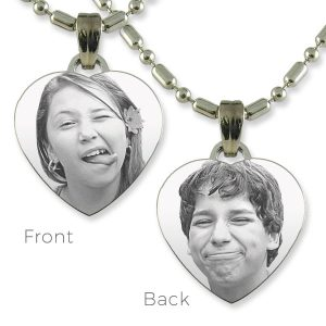 Small Heart Double Sided Photo Pendant