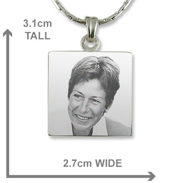 Square Photo Pendant Dimensions