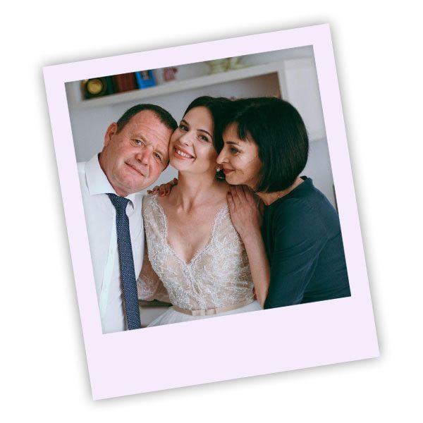 Parents of the Bride Wedding Polaroid