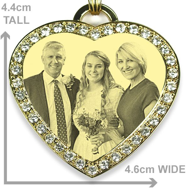 Large Heart Photo Pendant - Bride & Parents