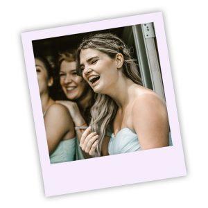Brides Maids Smiling