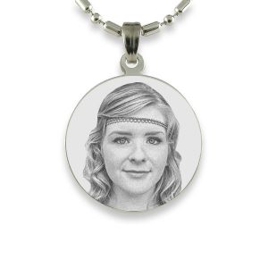 Round Brides Maid Photo Pendant