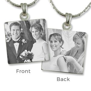 Square photo Pendant - Parents of the bride