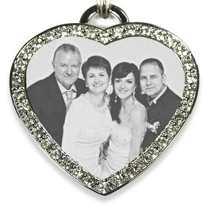 Large Diamante Heart Photo Pendant – Wedding Keepsake