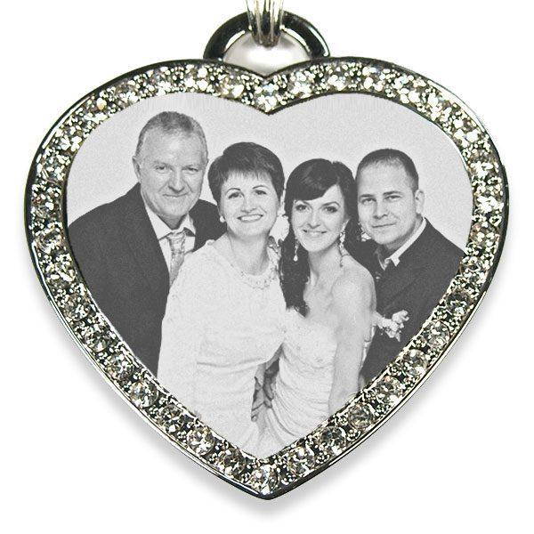 Large Diamante Heart Photo Pendant – Wedding Keepsake