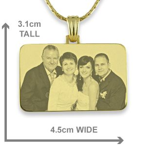 Gold Plate Family Wedding Keepsake Photo Pendant