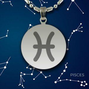 PISCES Zodiac Pendant