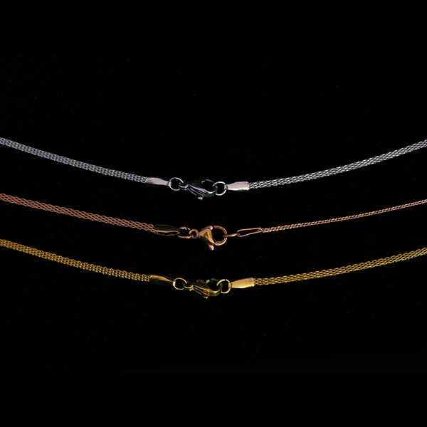 Plated Stainless Steel Woven Rope Chain