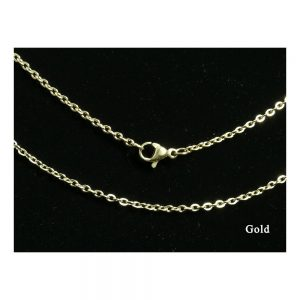 Stainless Steel Gold Cuban Link Chainink