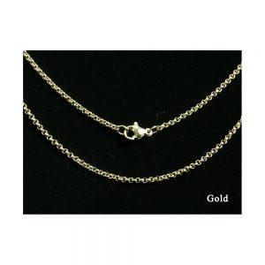 Gold Round Link