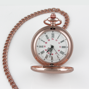 Rose Gold Photo Engraved Pocket Watch Face