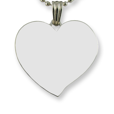 Blank Face of Heart Photo Pendant