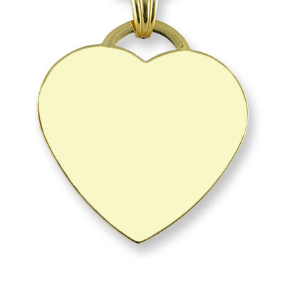 Blank Gold Plate Heart Photo Pendant
