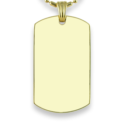 Blank face of Gold Plate Large ID-Tag Colour Photo Pendant