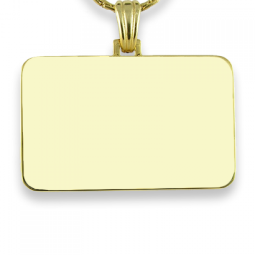 Blank Gold Plated Colour Family Rectangle Photo Pendant