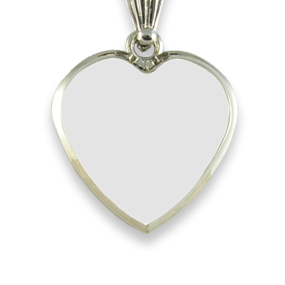 Blank face Medium Heart Printed Colour Photo Pendant