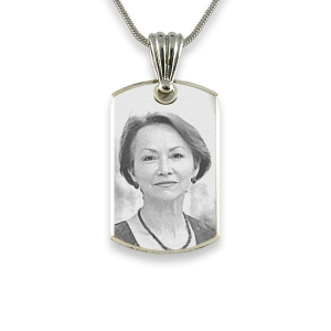 925 Silver Bevelled Portrait Photo Pendant
