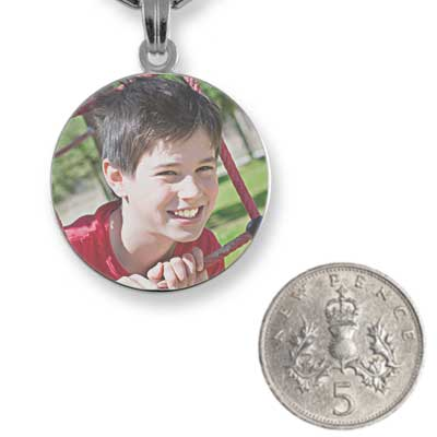 Rhodium Plated Small Colour Disc with 5p scale