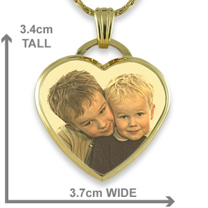 Dimensions Gold Plate Deluxe Bevelled Large Colour Drop Heart