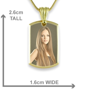 Dimensions Printed Colour Photo ID Tag
