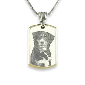 Rhodium Plate Deluxe Bevelled Small Portrait Pendant Photo Pendant