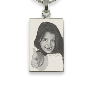 Silver 925 Photo Engraved Portrait Pendant