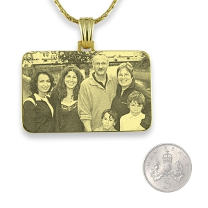 5p Scale Gold Plated Family Photo Pendant