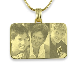 Example of Gold Plated Family Photo Merged Pendant