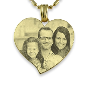 Gold Plated 925 Silver Large Curved Heart