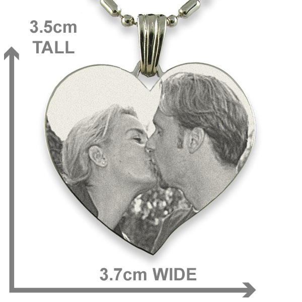 Dimensions of Titanium Large Curved Heart