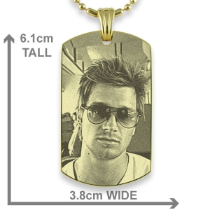 Large Medallion ID Tag Photo Pendant